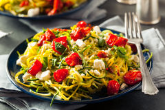 Free Homemade Zucchini Noodles Zoodles Royalty Free Stock Photography - 69954197