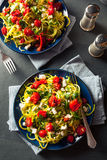 Homemade Zucchini Noodles Zoodles Stock Image