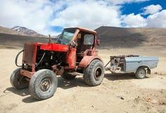 Homemadel Traktor Stockbild
