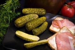 Homemage bejcował ogórka życia jedzenia fotografię wciąż Obraz Stock