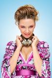 Homemaker в фиолете Стоковая Фотография RF