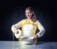 Homemaker с смесителем и шаром стоковое изображение