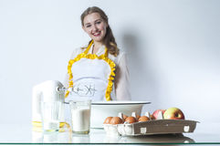 Homemaker in kitchen Royalty Free Stock Photo