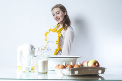 Homemaker in kitchen Stock Image