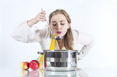 Homemaker with ladle Stock Photography