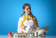Homemaker with mixer Royalty Free Stock Photo