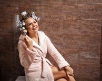 Homemaker morning makeup Stock Image