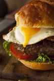 Homemmade Bacon Hamburger with Egg Royalty Free Stock Photos