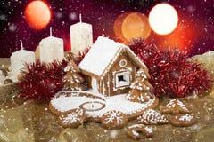 Homenade-Feiertag Lebkuchenhaus Lizenzfreies Stockfoto