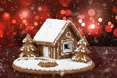 Homenade holiday Gingerbread house Stock Image