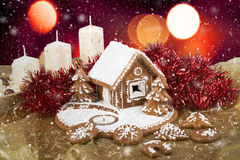 Homenade holiday Gingerbread house Royalty Free Stock Photo