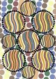Homenaje al arte aborigen del punto Imagen de archivo