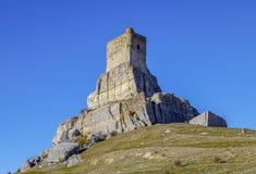 Homenaje-Turm mittelalterlicher Festung Schloss Atienza des des 12. Jahrhundertsspaniens Lizenzfreie Stockbilder