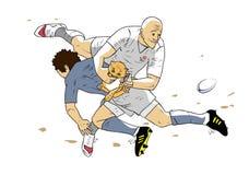 Homens agradáveis do rugby Imagem de Stock