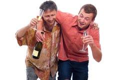 Homens bêbedos Imagens de Stock