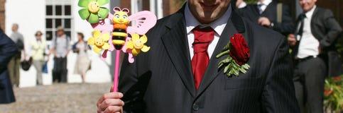 Homens com brinquedo Imagem de Stock Royalty Free