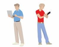 Homens com dispositivos Imagens de Stock