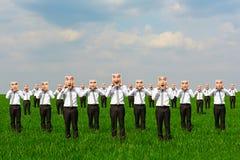 Homens com emoções diferentes Fotografia de Stock
