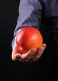 Homens com maçã Imagens de Stock