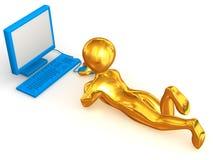 Homens com PC Imagem de Stock Royalty Free