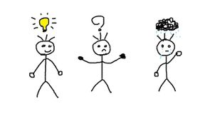 Homens com várias emoções ilustração royalty free