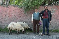 Homens curdos em Kars em Turquia Fotos de Stock