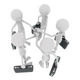 Homens da reunião de negócios 3d Imagens de Stock Royalty Free