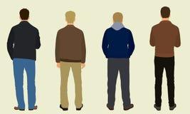 Homens de atrás ilustração stock