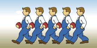 Homens de funcionamento ilustração royalty free