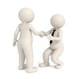 homens de negócio 3d - aperto de mão de intimidação Imagens de Stock Royalty Free