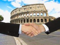 Homens de negócio em Roma Fotos de Stock Royalty Free