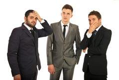 Homens de negócio preocupados Imagens de Stock Royalty Free