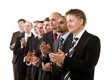 Homens de negócio que aplaudem as mãos Imagem de Stock Royalty Free