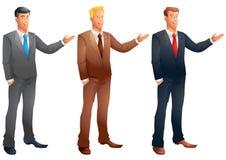 Homens de negócio que apresentam o grupo Imagem de Stock Royalty Free