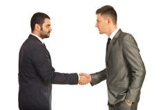 Homens de negócio que dão a agitação da mão Imagens de Stock Royalty Free