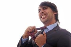 Homens de negócio receosos Fotografia de Stock Royalty Free