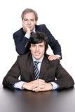 Homens de negócio retrato, pai e filho imagens de stock royalty free