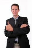 Homens de negócio satisfeitos Fotos de Stock Royalty Free