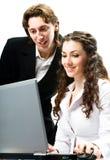 Homens de negócios alegres Imagem de Stock Royalty Free