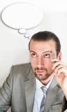 Homens de negócios com bolha do pensamento Imagem de Stock
