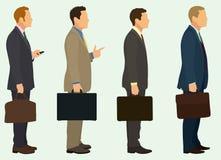Homens de negócios com pasta Fotos de Stock Royalty Free