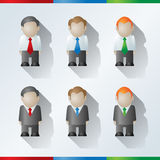 Homens de negócios dos desenhos animados do vetor Imagem de Stock