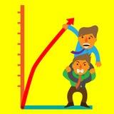 Homens de negócios e curva ilustração stock