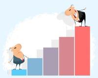Homens de negócios e gráfico Imagem de Stock Royalty Free