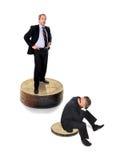Homens de negócios e taxas de câmbio imagem de stock