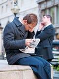 Homens de negócios em Londres Fotografia de Stock
