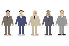Homens de negócios em ternos do escritório com a gravata isolada no fundo branco ilustração do vetor
