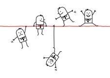 Homens de negócios em um fio Imagem de Stock