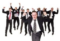 Homens de negócios felizes fotografia de stock