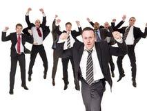 Homens de negócios felizes imagem de stock royalty free